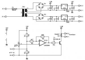 deska ovládání ventilátoru