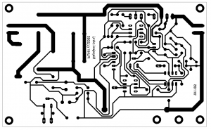 deska plošných spojů napájecího zdroje