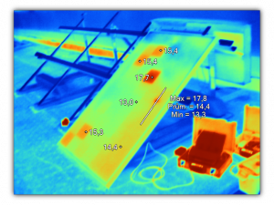 solární panel - kontrola termokamerou