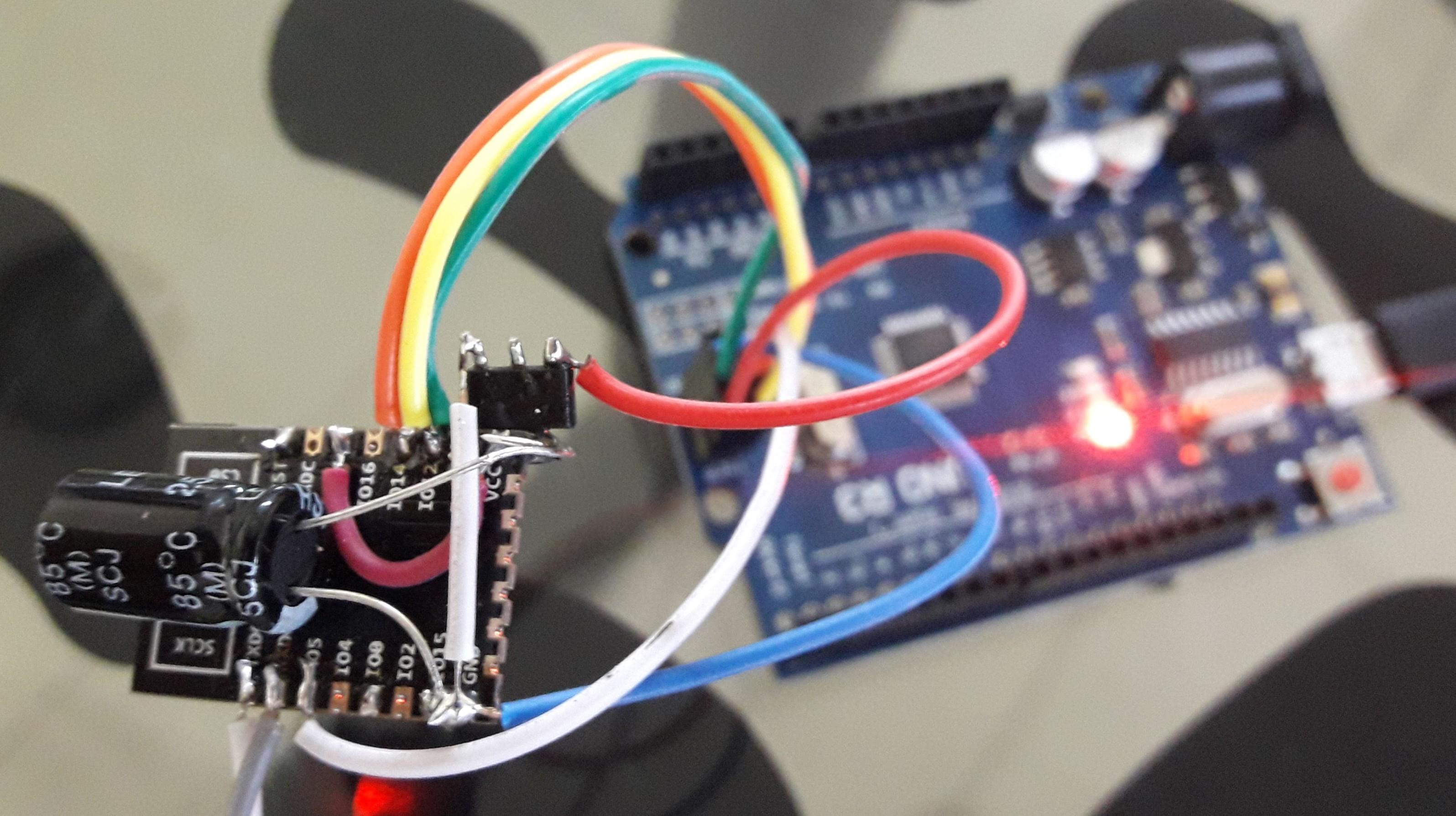 Připojení ESP8266AVRISP pro ICSP programování Arduina - arduino nahrání programu přes wifi
