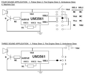 Jednoduchá sirénka s UM3561