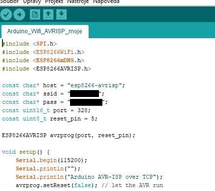 Nastavení wifi SSID a hesla